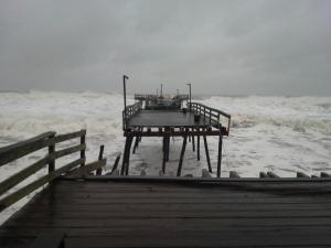 Pier Lashed Hurricane Sandy
