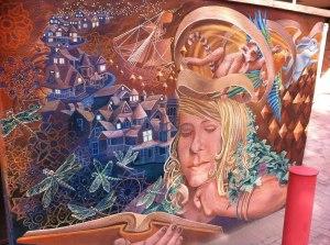 Mural Woman Dream Reading