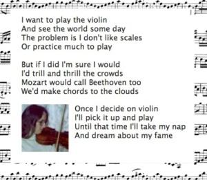 Violin poem photo music background