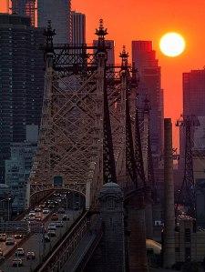 Xavi huge bridge cars sun